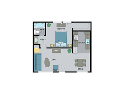Layout E Floor Plan