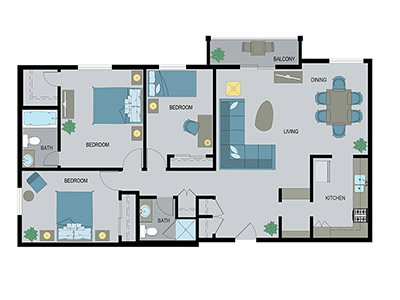 Layout C Floor Plan