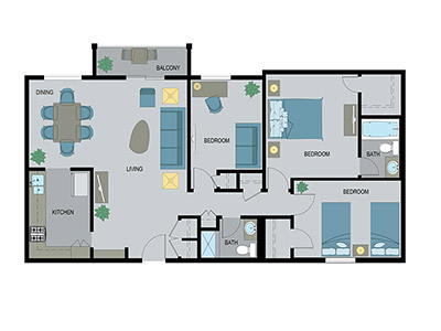 Layout G Floor Plan