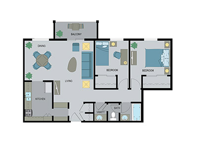 Layout H Floor Plan