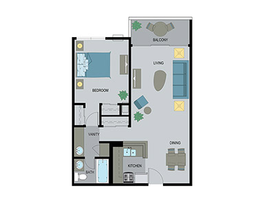 Layout F Floor Plan