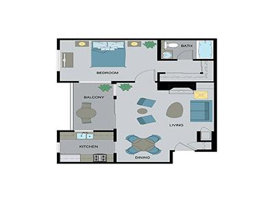 Layout D Floor Plan