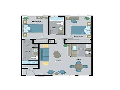 Layout F Floor Plan